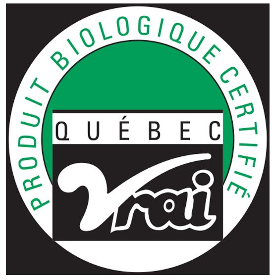Québec Vrai - Produit biologique certifé