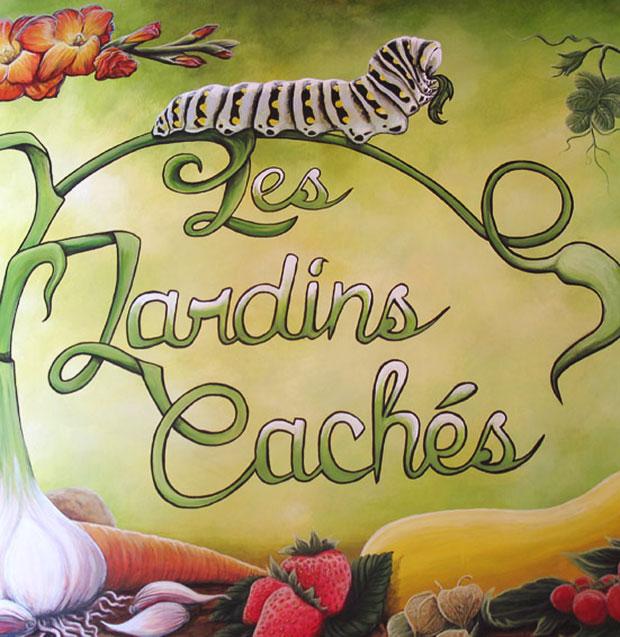 Affiche Jardins cachés - Amqui Québec