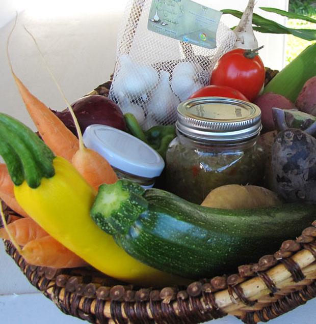 Panier de légumes variés - Jardins cachés - Amqui Québec